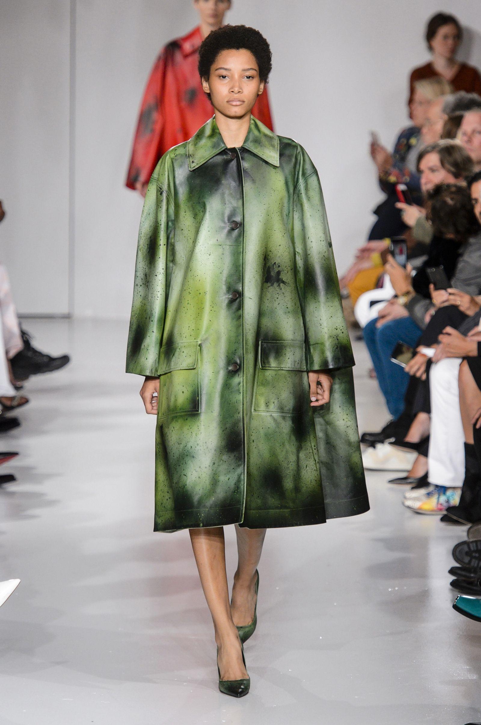 Calvin Klein 2018 кожаное пальто
