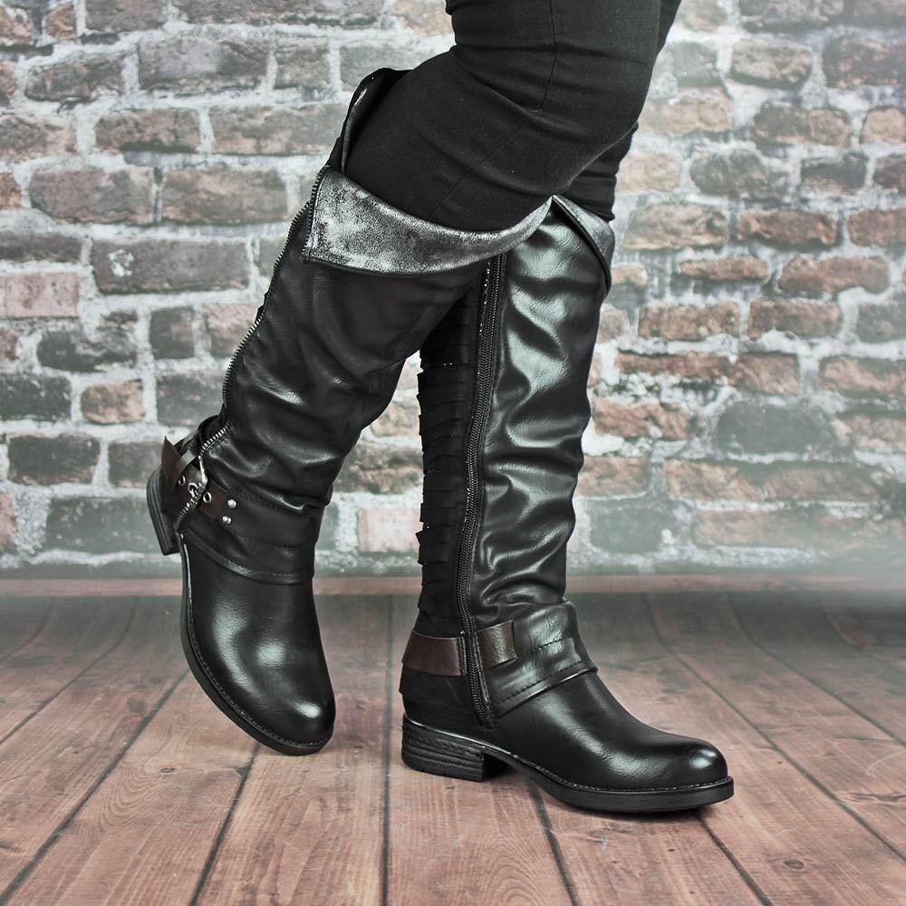 Широкие сапоги кожаные