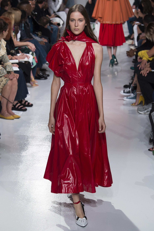 Calvin Klein 2018 красное платье