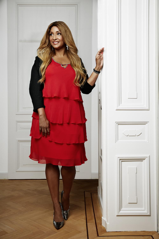 Вечернее платье для полных красное