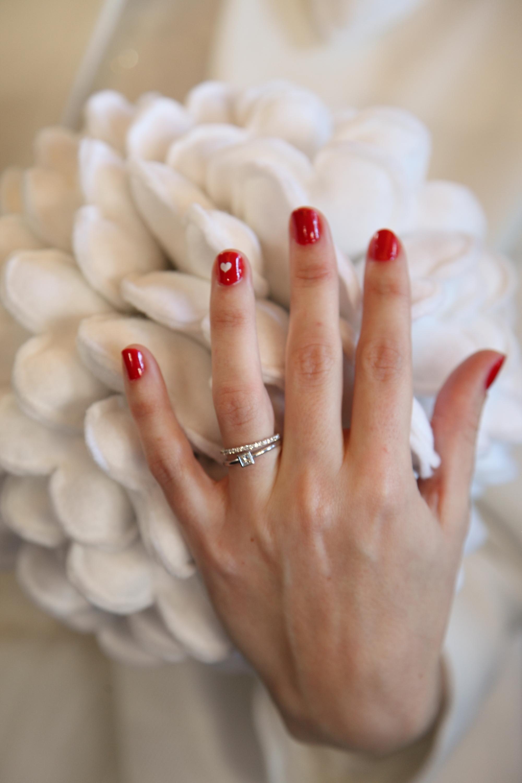 Свадебный маникюр 2017 красный