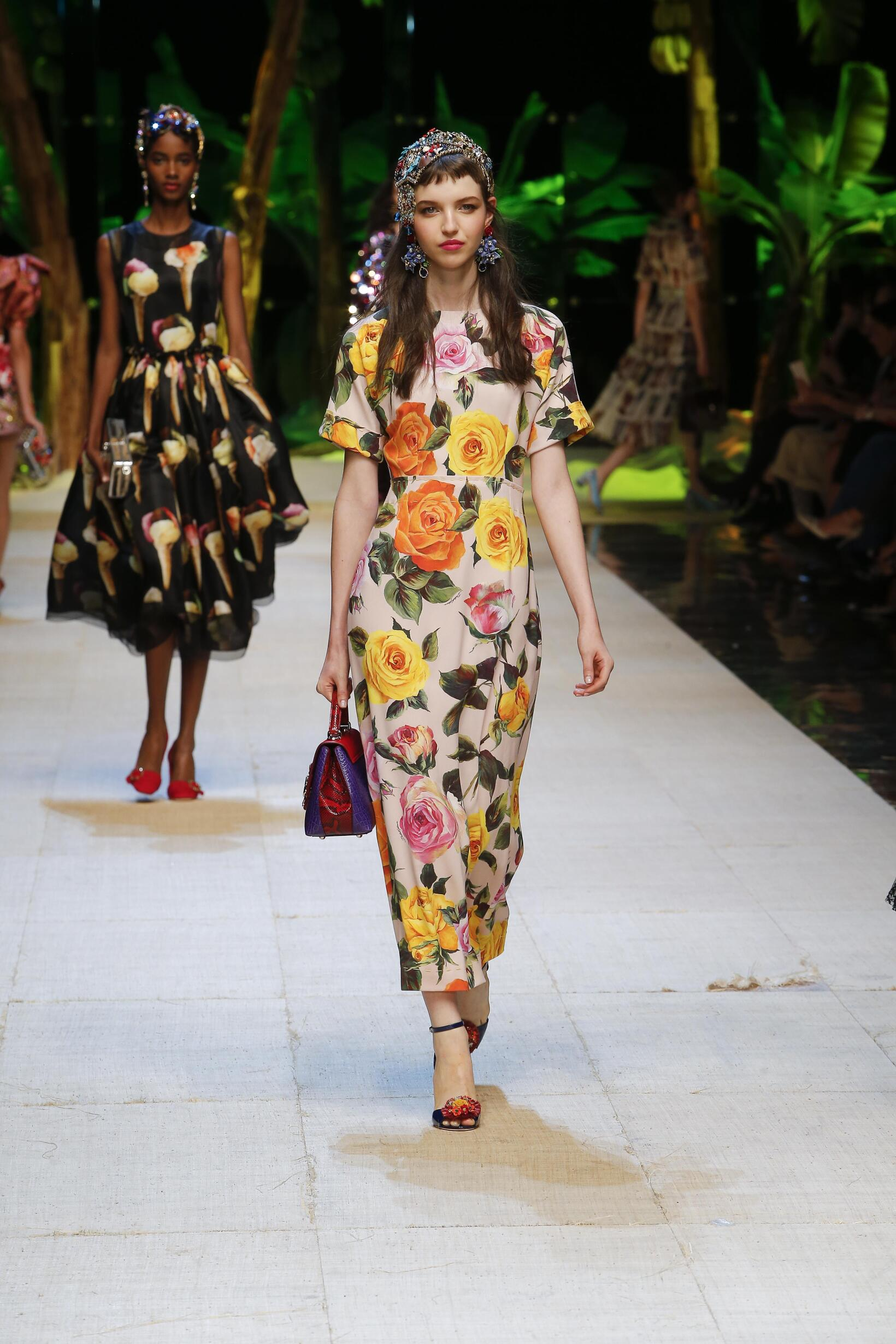 Дольче габбана весна лето 2017 платье