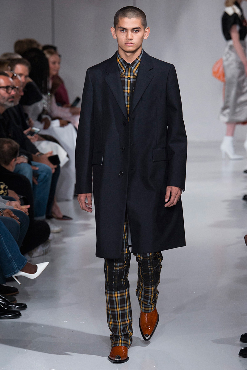 Calvin Klein 2018 мужское черное пальто