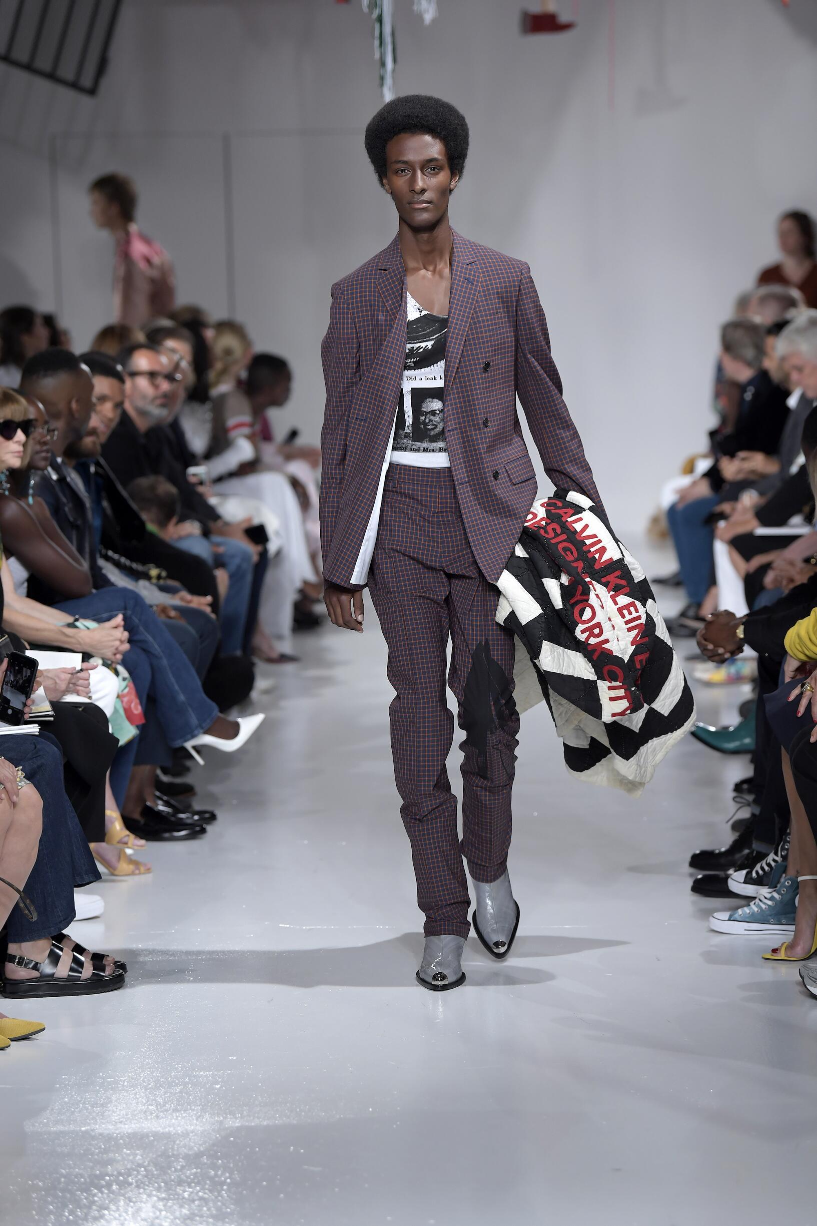 Calvin Klein 2018 мужской клетчатый костюм