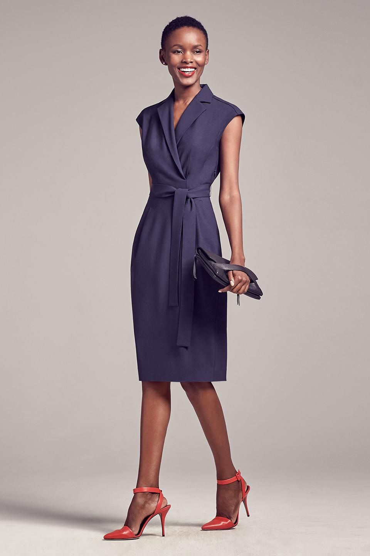 Платье для женщины 40 лет офисное синее