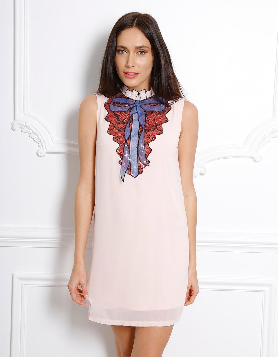 Коктейльное платье 2018 с пайетками
