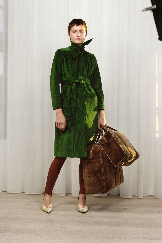 Balenciaga зеленый тренч 2017