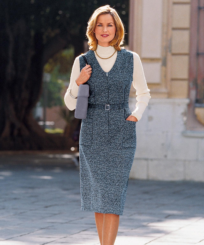 Платье для женщины 40 лет серое
