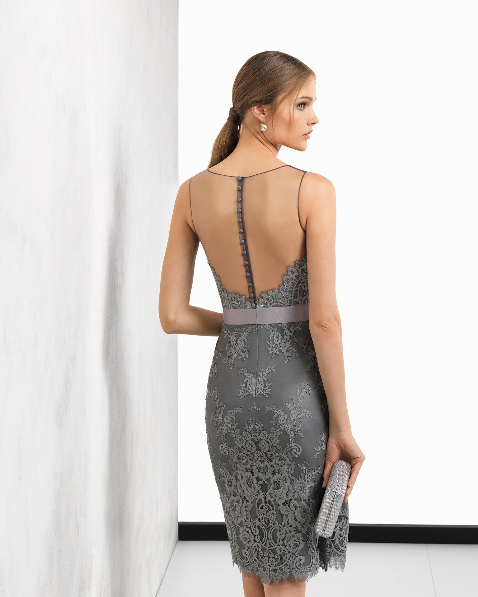 Коктейльное платье 2018 серое