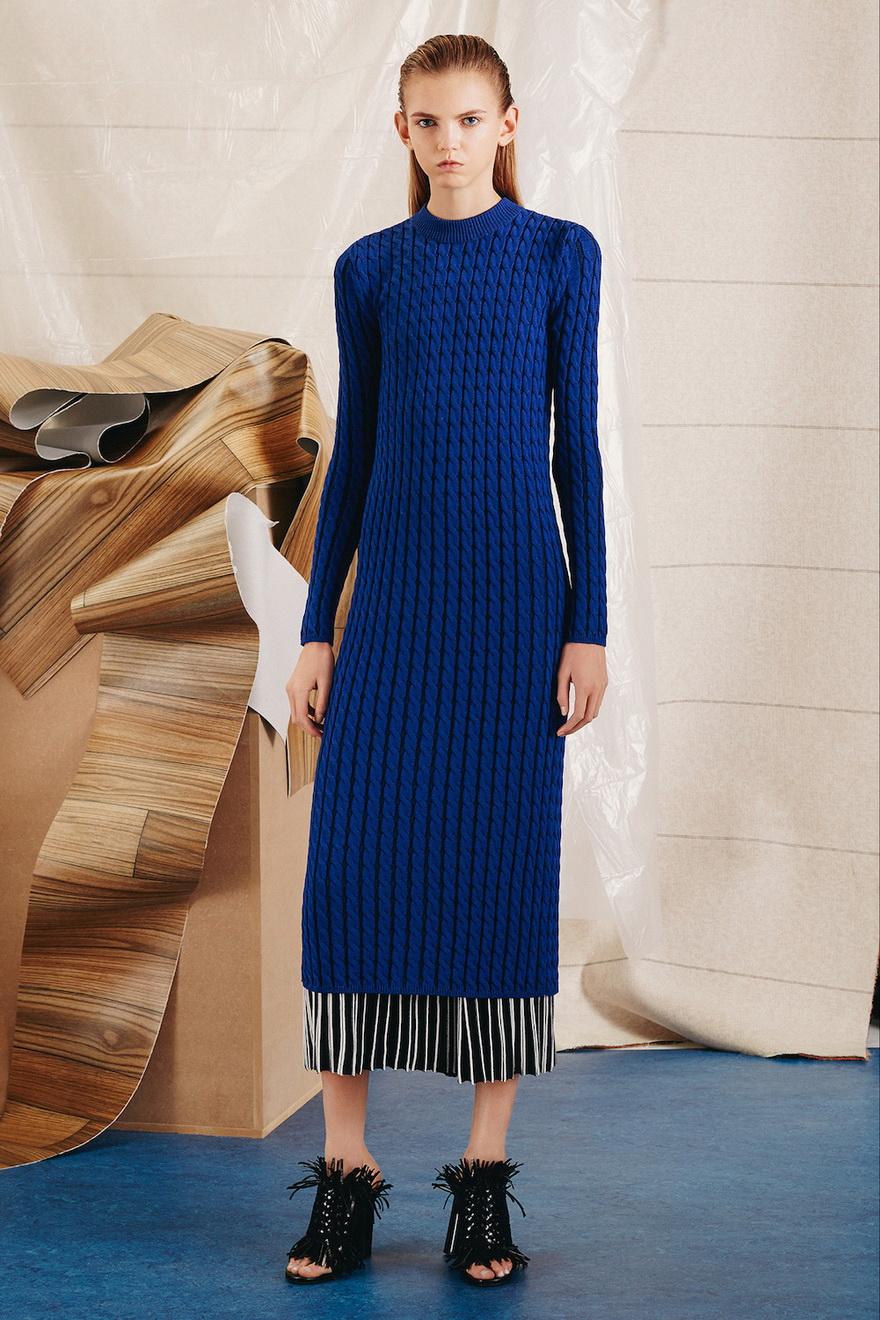 Платье зима 2018 синее