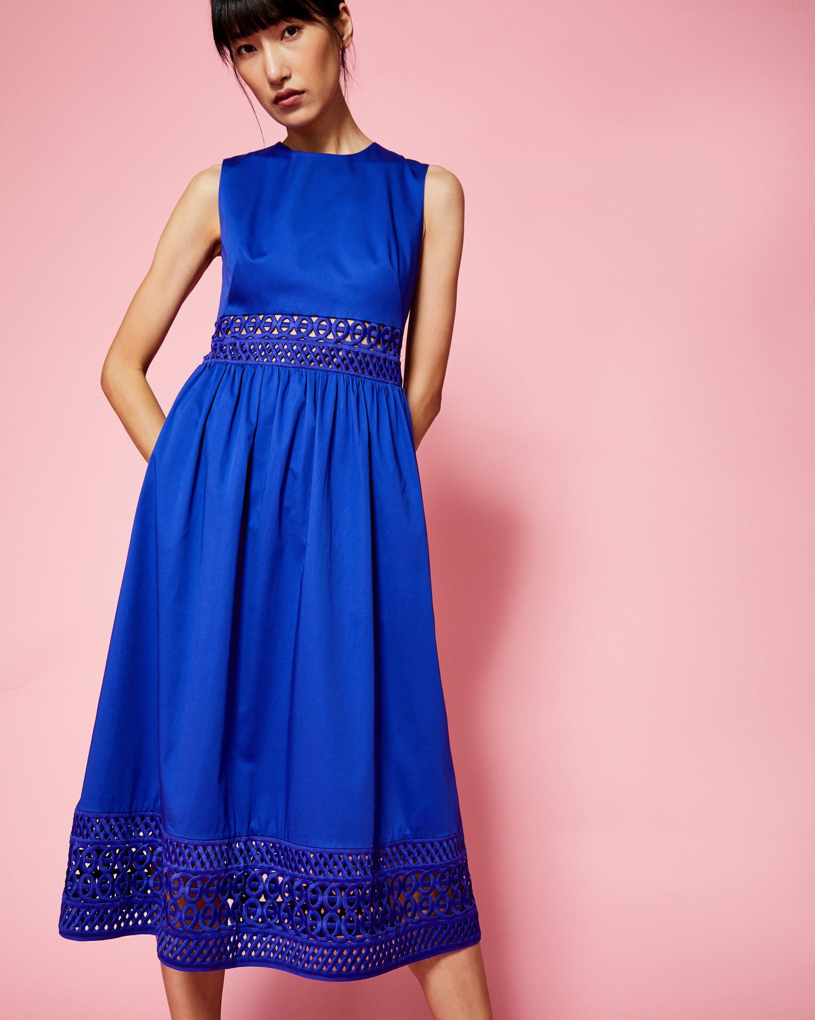Коктейльное платье 2018 синее
