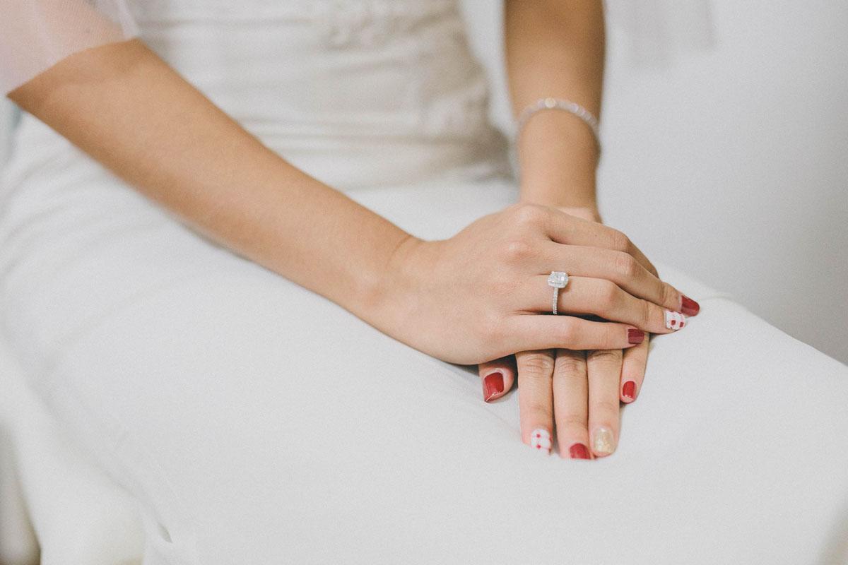 Свадебный маникюр 2017 яркий