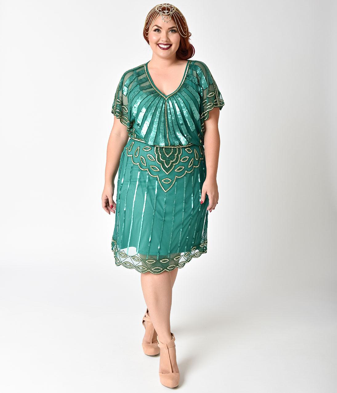 Вечернее платье для полных зеленое