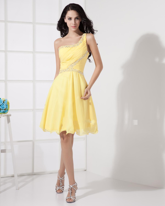 Коктейльное платье 2018 желтое