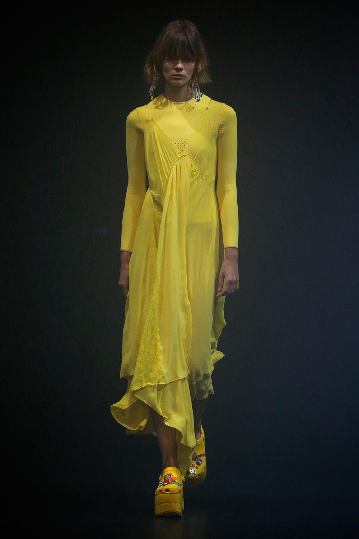 Balenciaga желтое платье