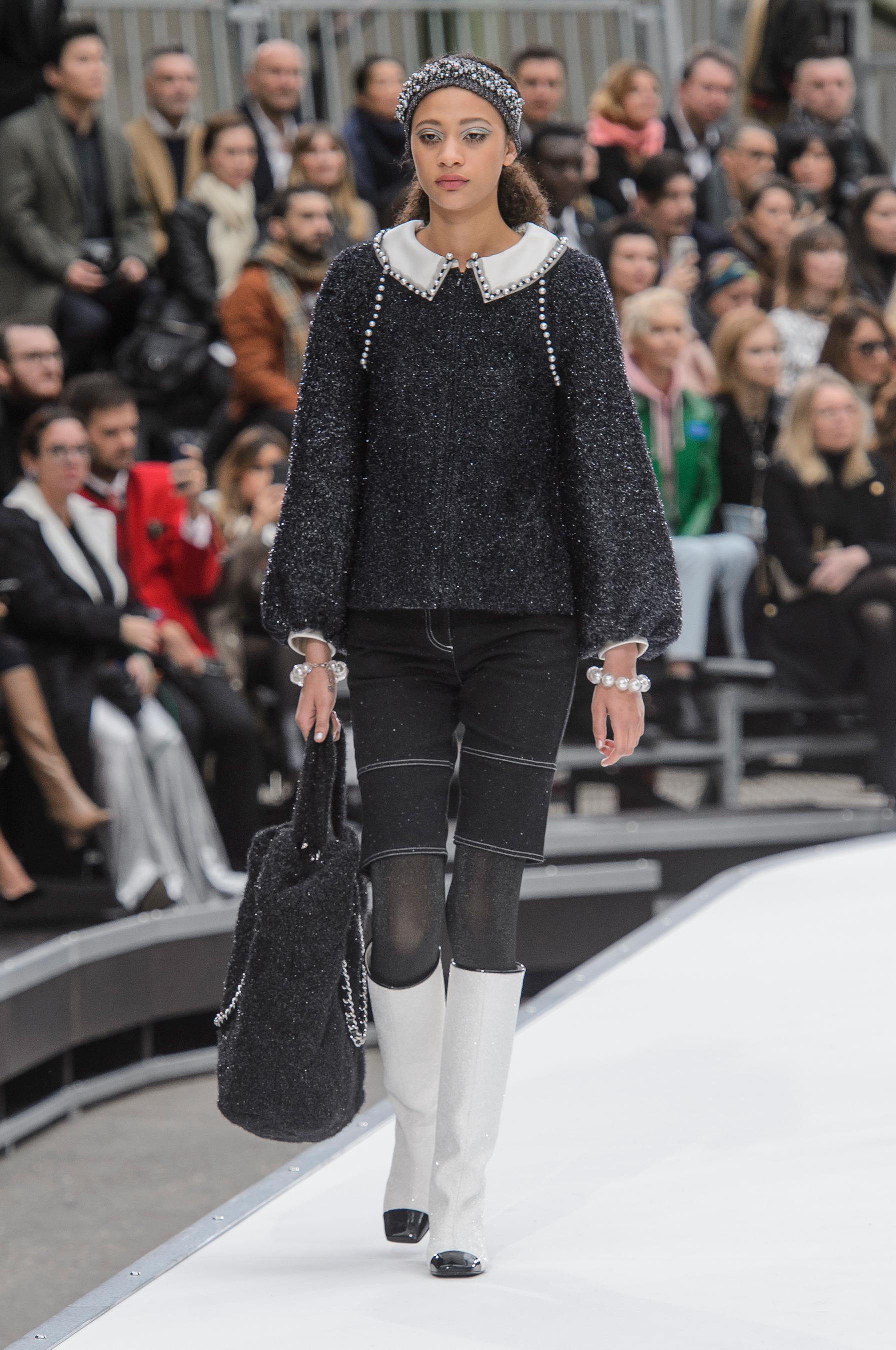 Шанель осень зима 2018 сапоги