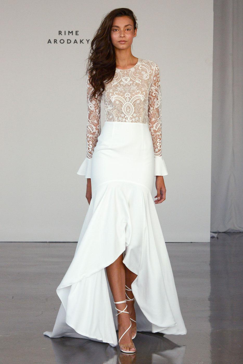 Свадебное платье 2018 асимметричное