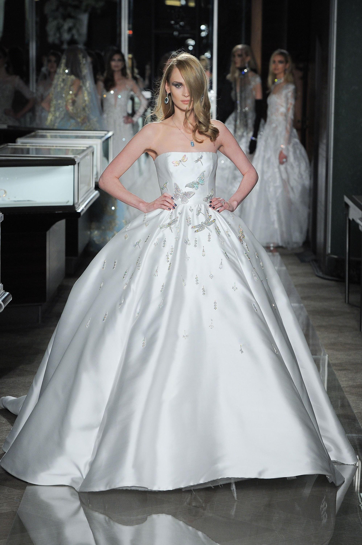 Свадебное платье 2018 атласное со стрекозами