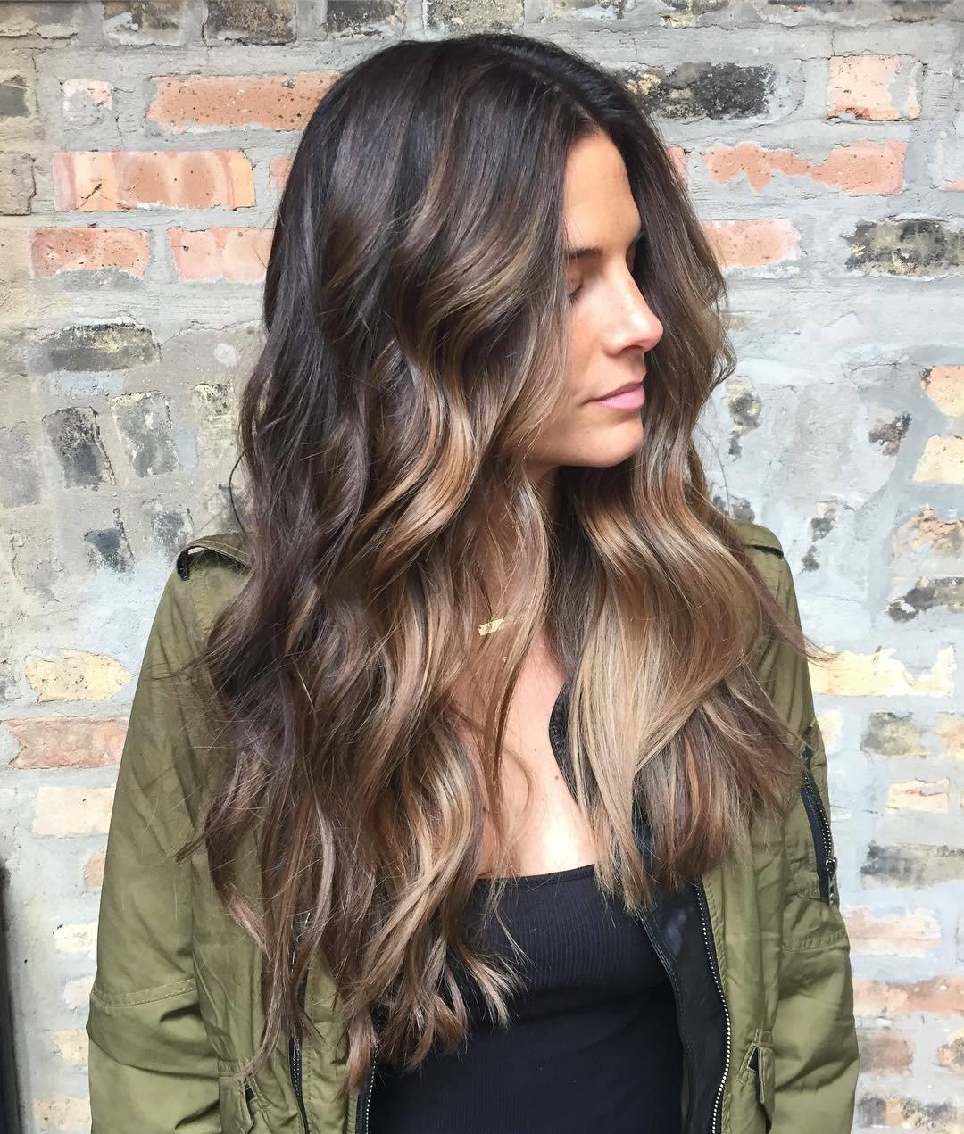 Балаяж 2018 на длинные волосы