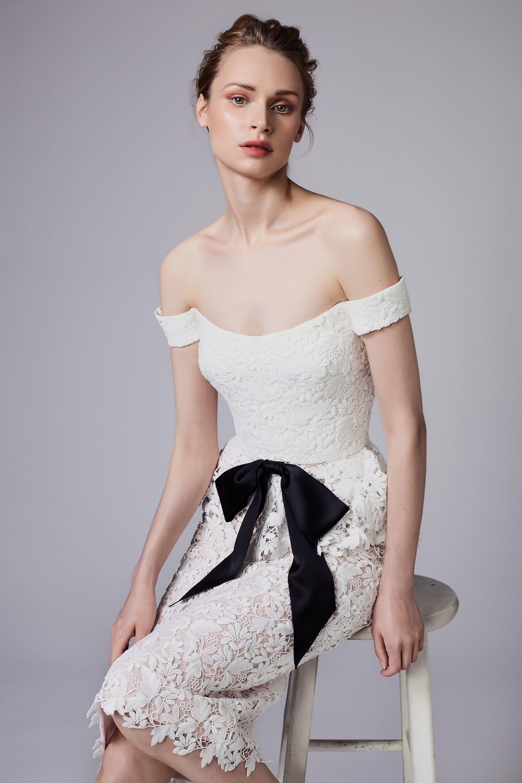 Свадебное платье 2018 с бантом