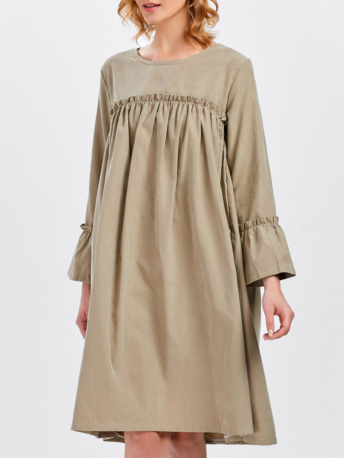 Платье оверсайз бежевое