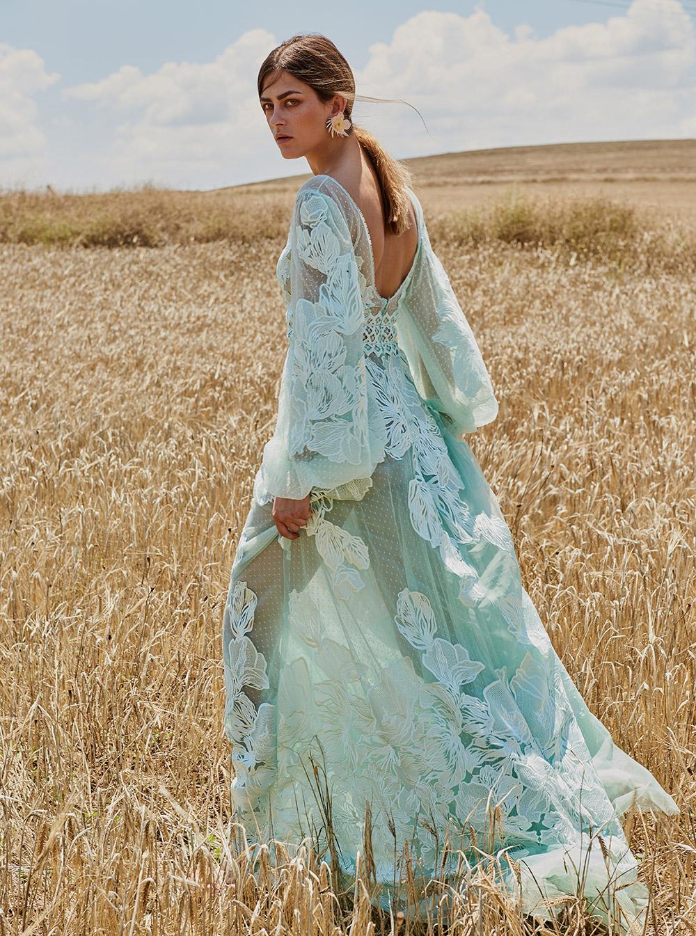 Свадебное платье 2018 бирюзовое