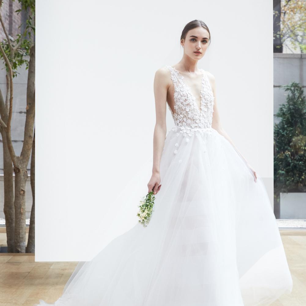 Свадебное платье 2018 на бретелях