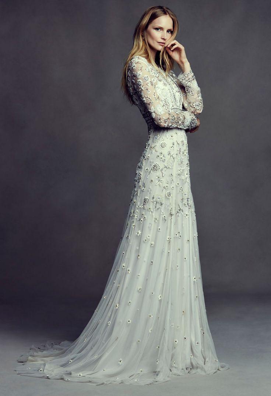 Свадебное платье 2018 с цветочной вышивкой