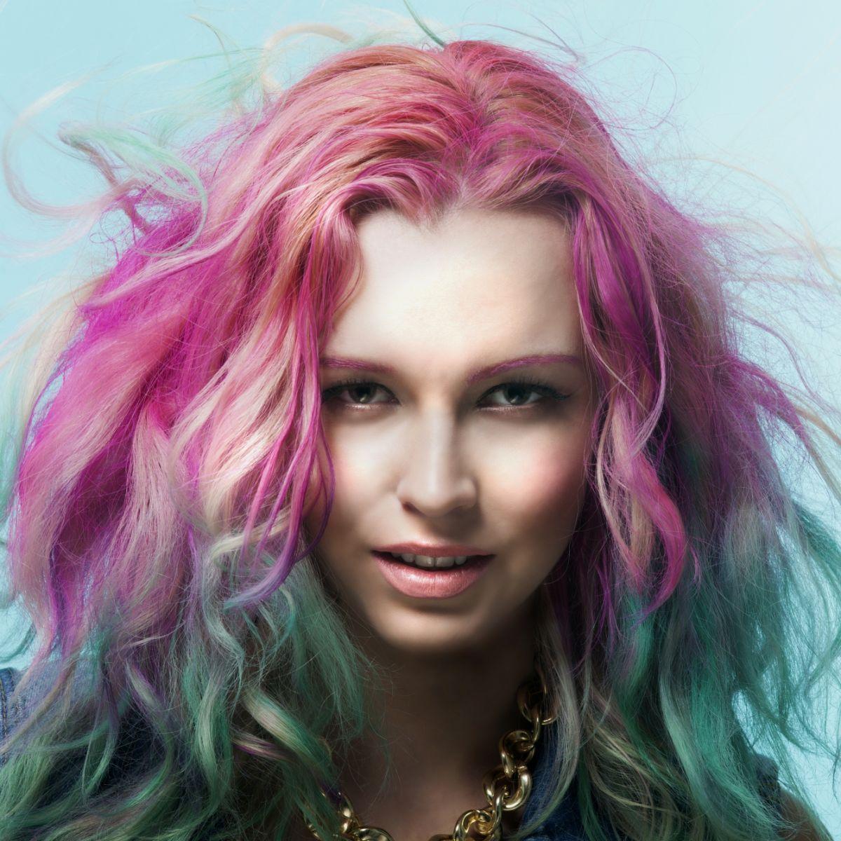 Окрашивание волос 2018 цветное