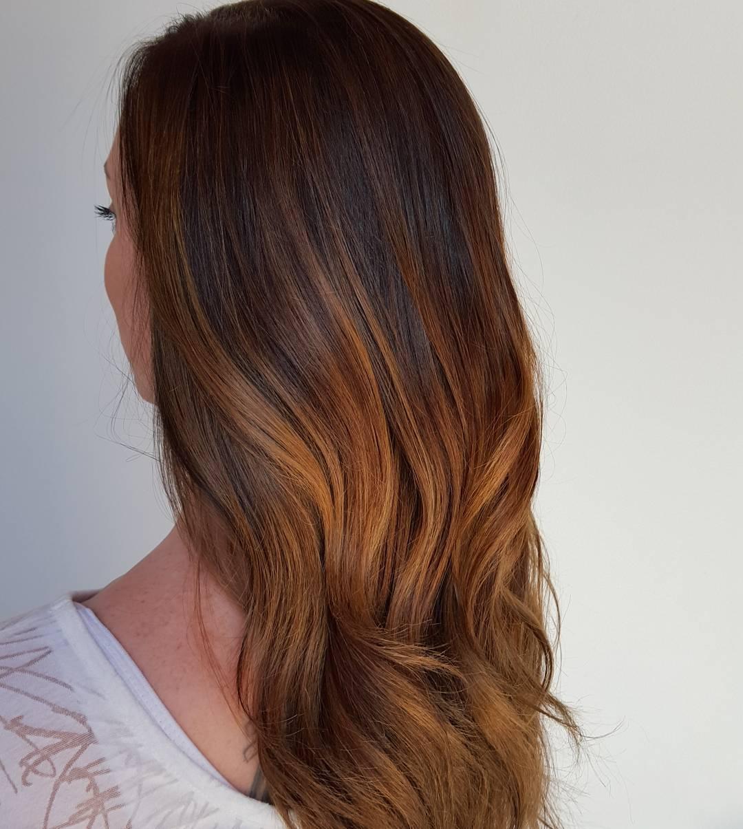 Окрашивание волос 2018 двухцветное