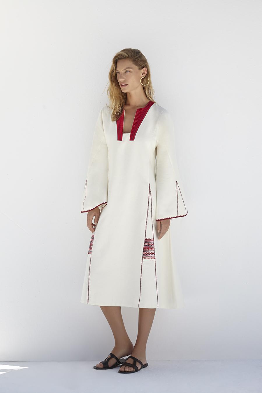 Платье оверсайз этническое