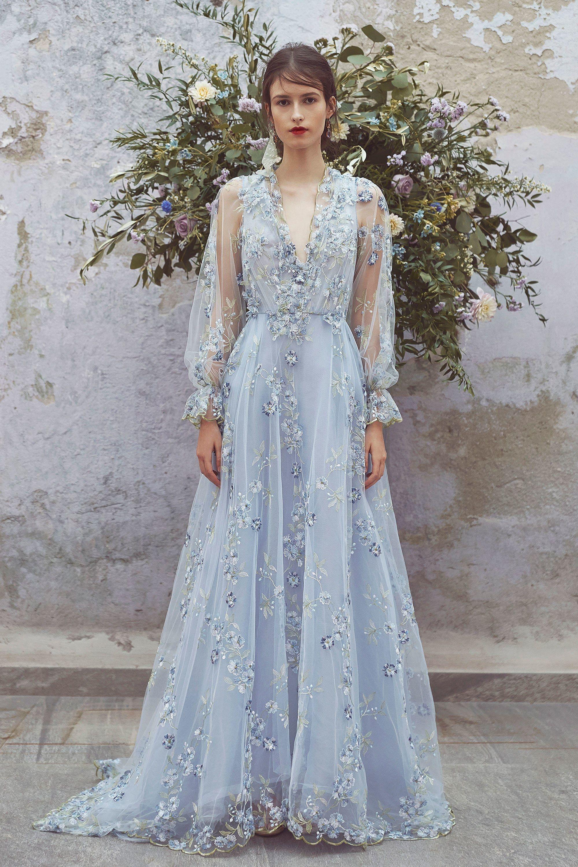 Свадебное платье 2018 голубое