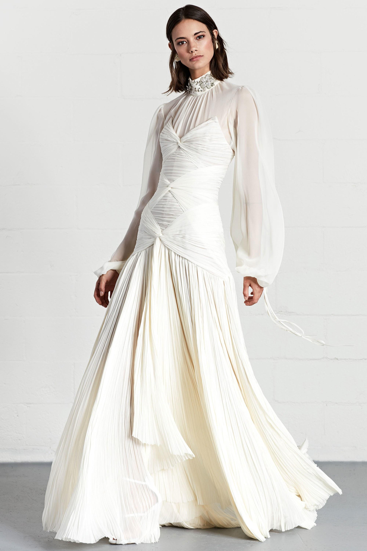 Свадебное платье 2018 под горло