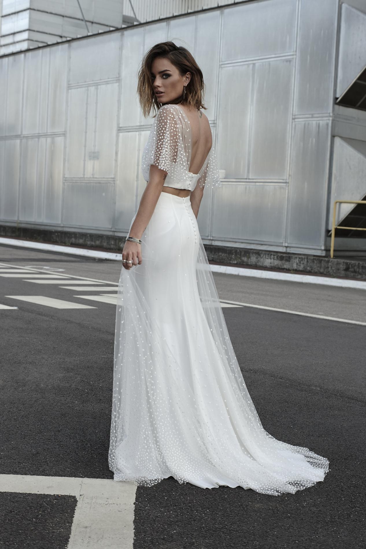 Свадебное платье 2018 в горошек