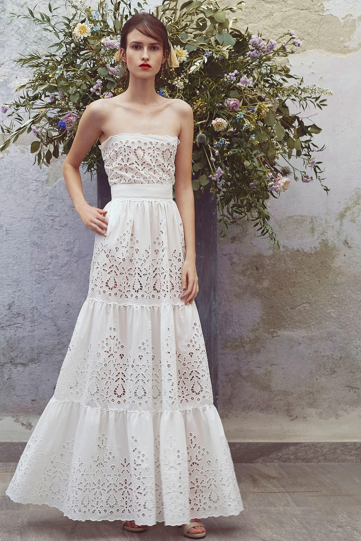 Свадебное платье 2018 из хлопка