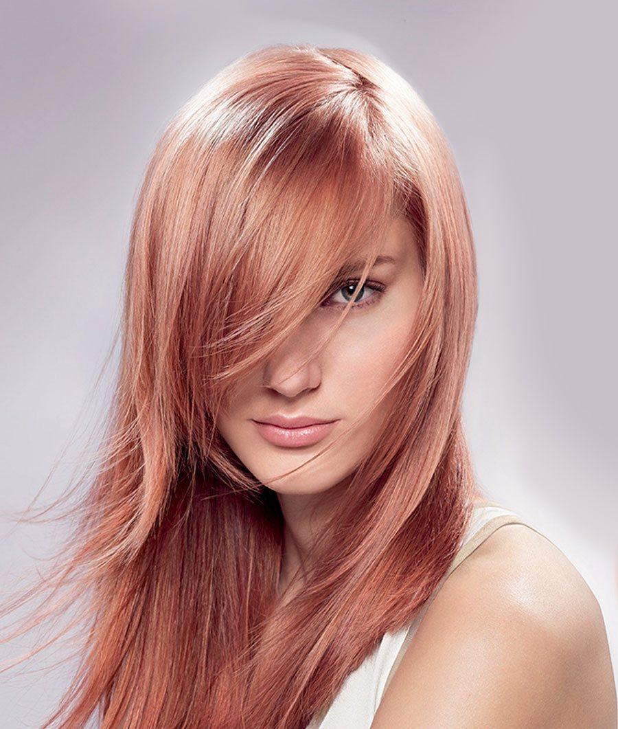 Окрашивание волос 2018 клубничное