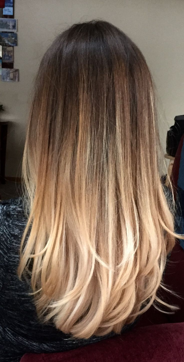 Окрашивание волос 2018 со светлыми кончиками