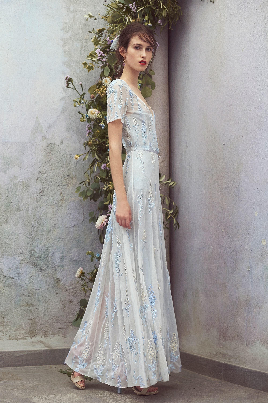 Свадебное платье 2018 с коротким рукавом