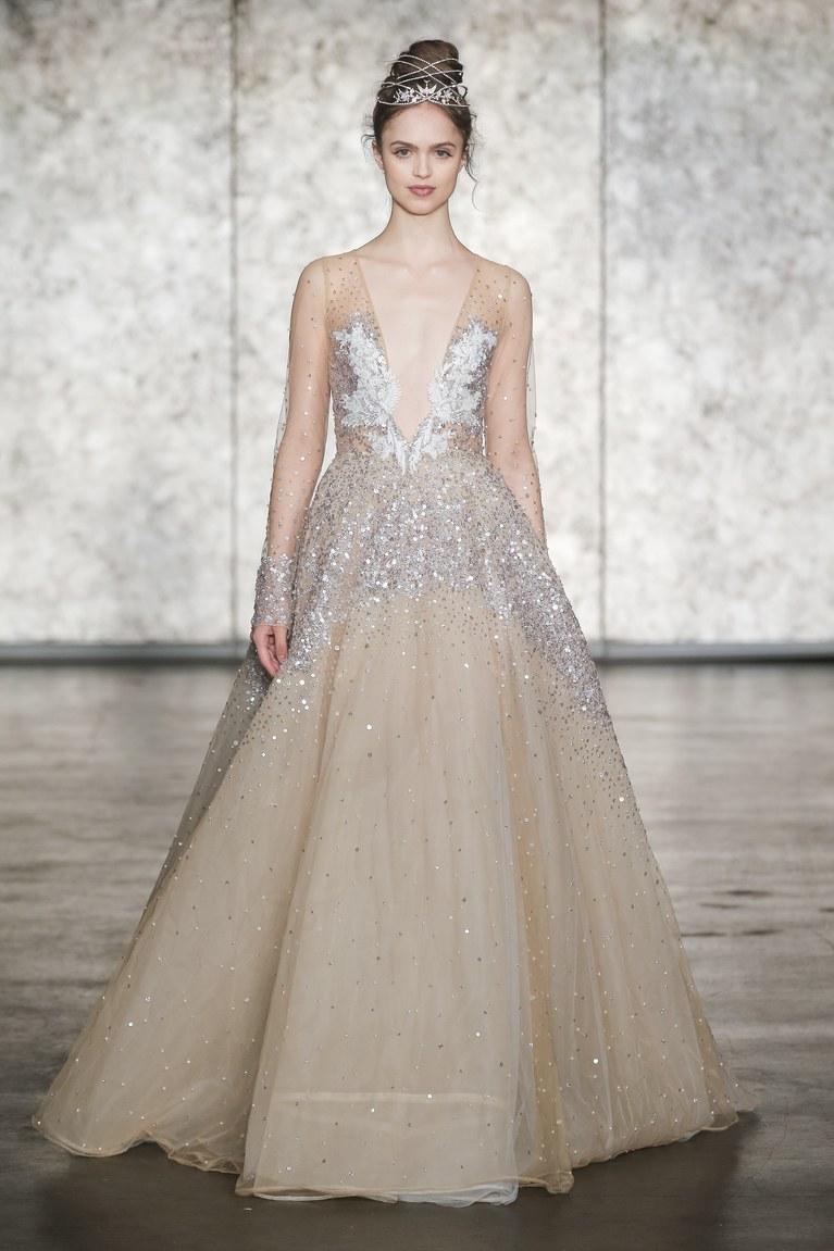 Свадебное платье 2018 с кристаллами
