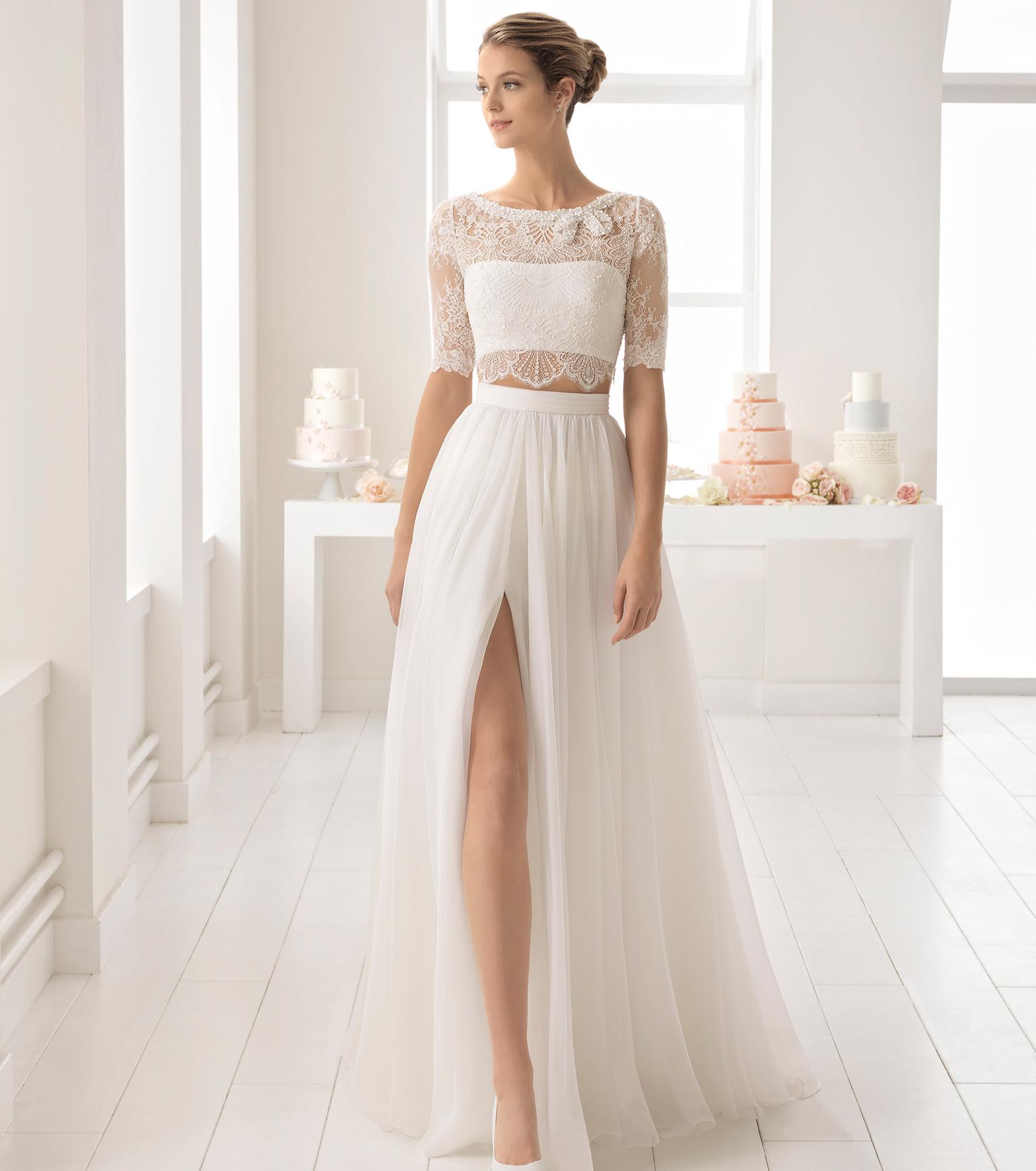 Свадебное платье 2018 с кружевным лифом