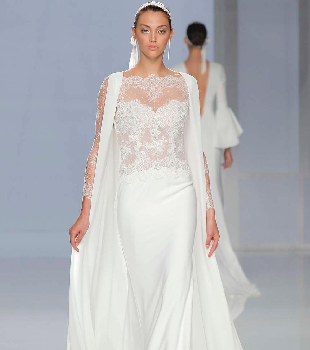 Свадебное платье 2018 с кружевными рукавами