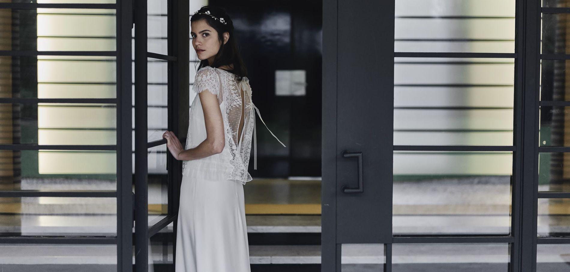 Свадебное платье 2018 с кружевной спиной