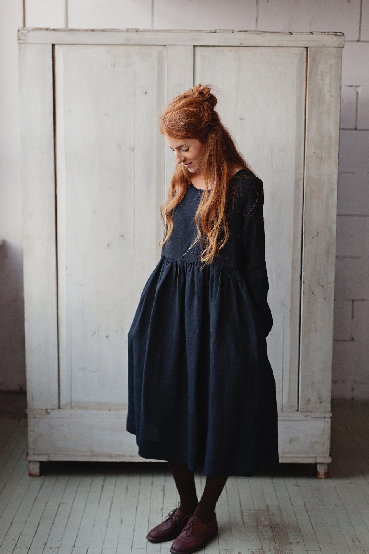 Платье оверсайз льняное