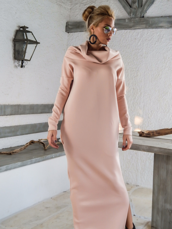 Платье оверсайз макси