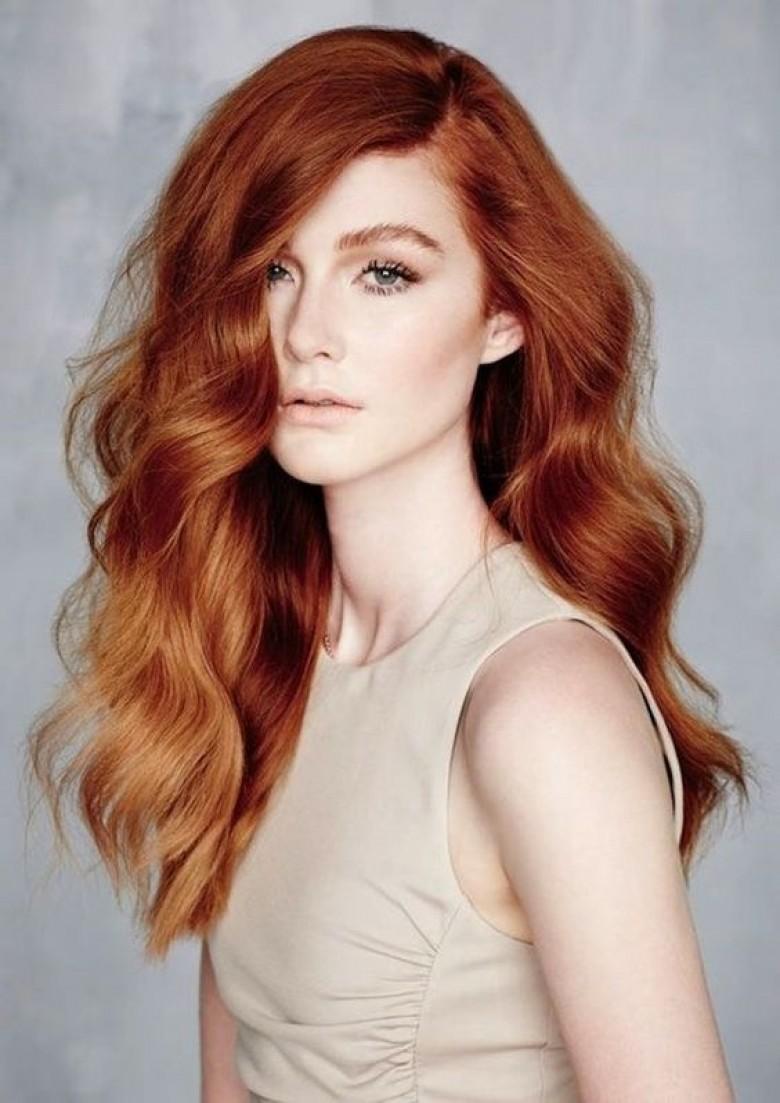 Окрашивание волос 2018 в медный
