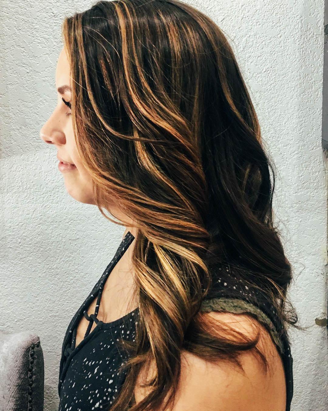 Мелирование волос брюнеток 2018
