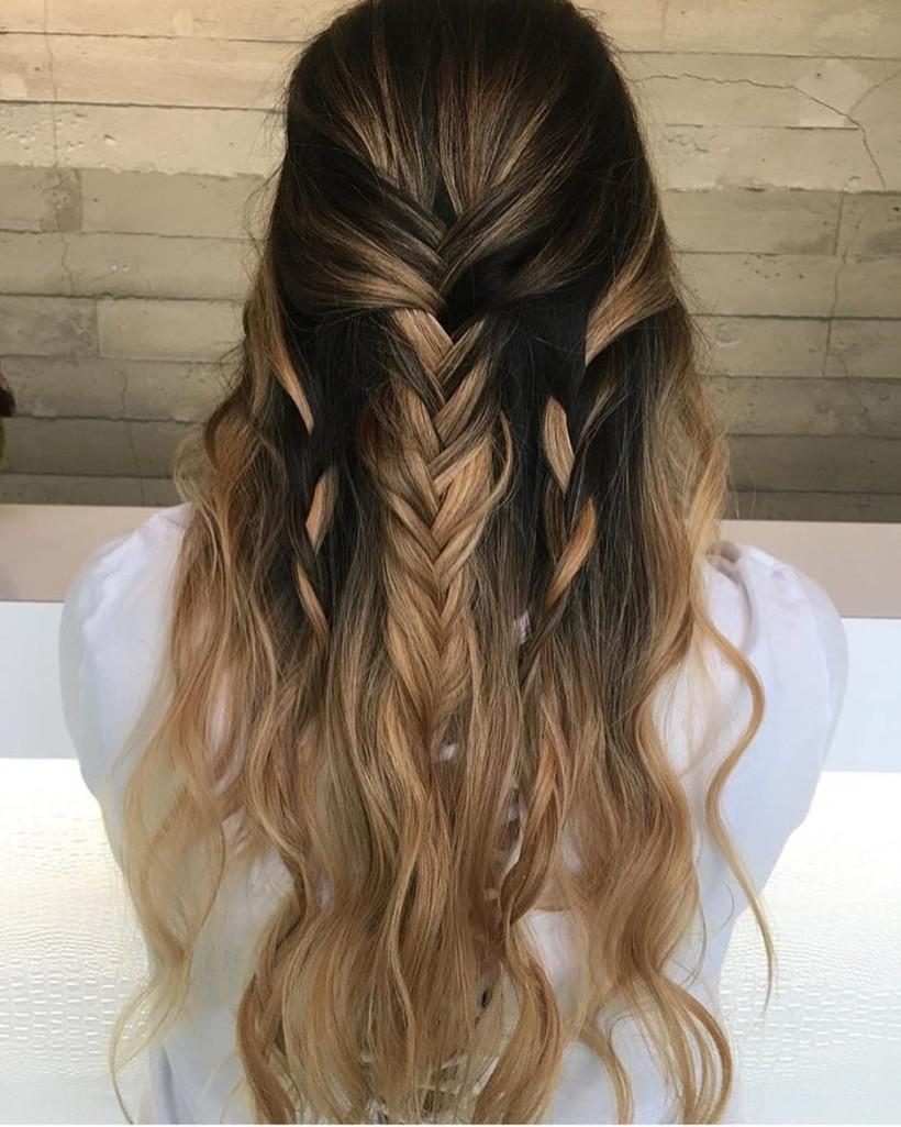 Мелирование 2018 на длинные волосы