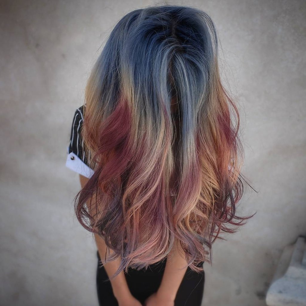 Color melting 2018 на длинные волосы