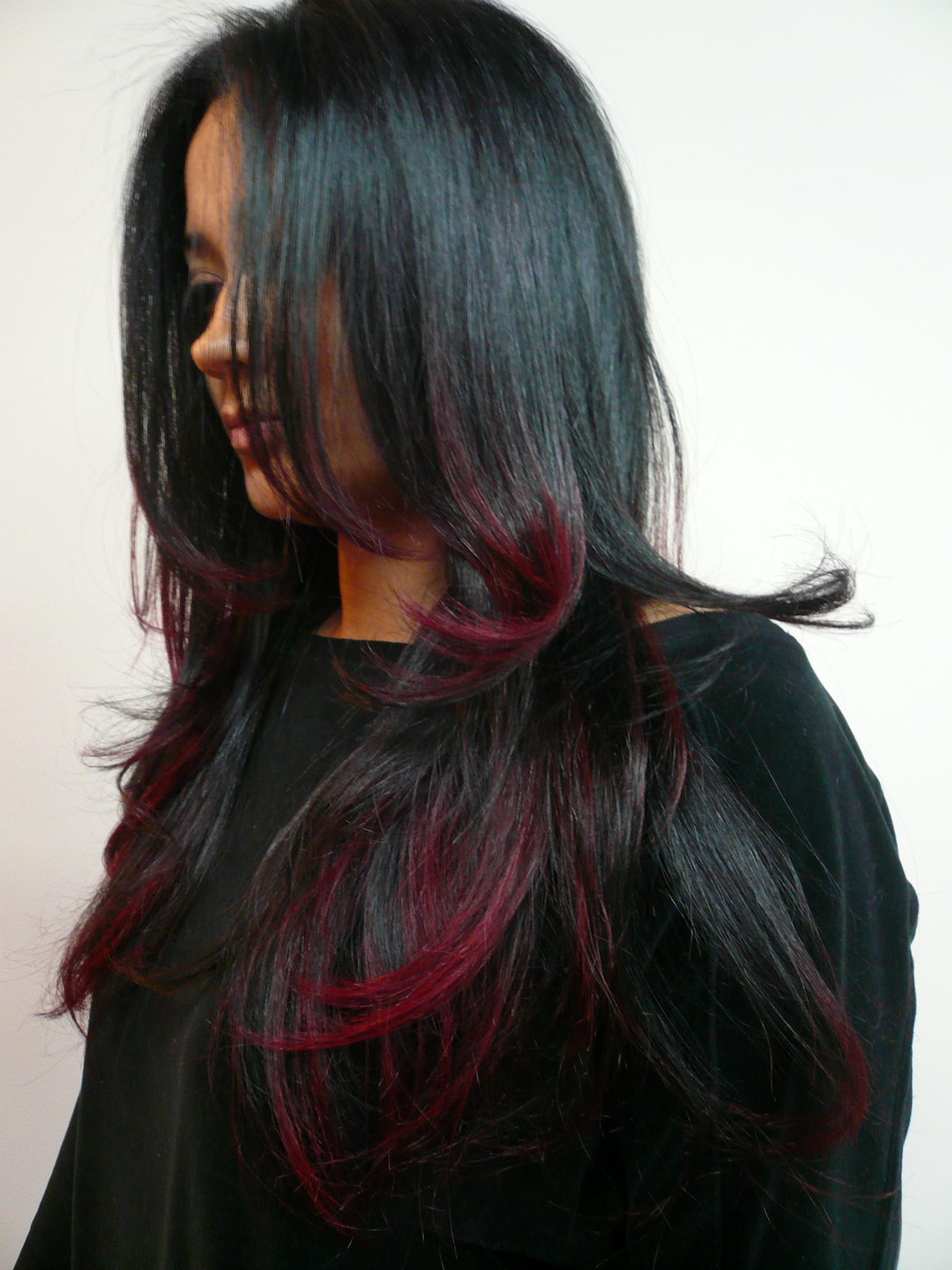 Color melting 2018 на темные волосы