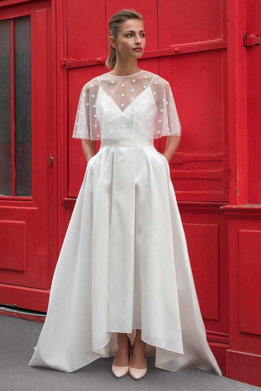 Свадебное платье 2018 с накидкой
